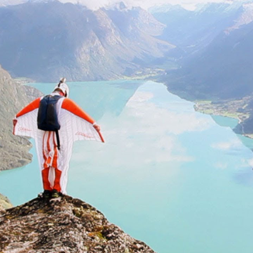 Wingsuit flying...brutal...